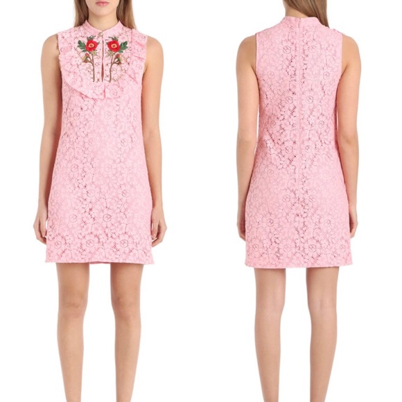 748d84222 Gucci Dresses | Nwt Embroidered Rose Lace Ss17 Sheath Dress | Poshmark